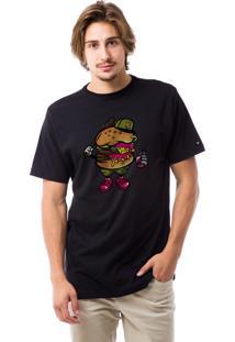 Camiseta Liv Geek Burger Bastard Preto
