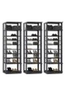 Kit 03 Módulos Sapateira Para Closet Clothes 1009 Espresso Be Mobiliario