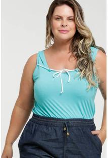 Blusa Feminina Amarração Plus Size Luktal