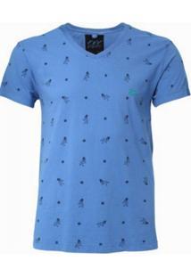Camiseta Unak Pin Up Azul