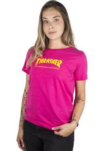 Camiseta Thrasher Magazine Skate Mag Feminina Pink - Multicolorido - Dafiti