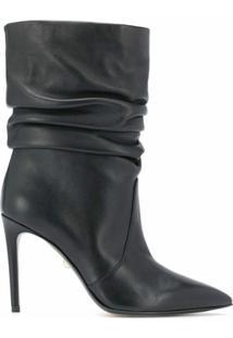 Alevì Ankle Boot Com Franzido - Preto