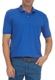 Camisa Polo Colombo Lisa Azul