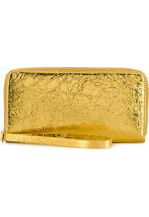 Mm6 Maison Margiela Carteira Com Zíper - Dourado