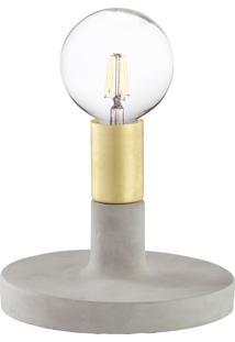 Luminária De Mesa Com Base Em Cimento 6626 - Mart - Dourado