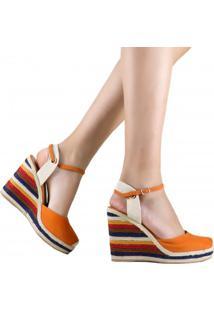 Sandália Zariff Shoes Plataforma Corda