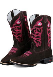 Bota Texana Ramon Boots Bordada Country Rosa