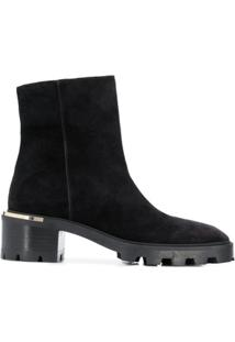 Jimmy Choo Ankle Boot Melodie Com Salto 35Mm - Preto