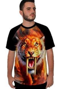Camiseta Stompy Raglan Sabre Masculina - Masculino-Preto