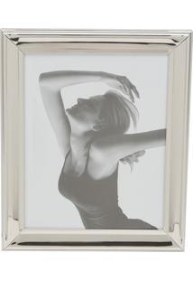 Porta Retrato De Aço Para Foto 13X18Cm Prateado 7916 Prestige