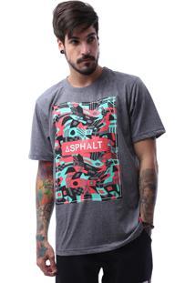 Camiseta Manga Curta Asphalt Cinza