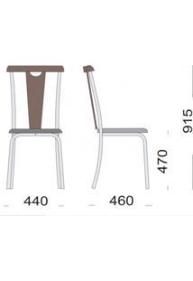 Conjunto Com Mesa Quadrada E 4 Cadeiras Calcário Modecor Café/Demolição
