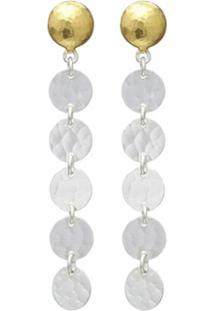 Gurhan Par De Brincos Lush Stiletto De Ouro 24K - Silver