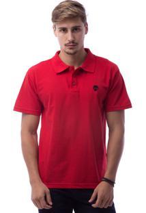 Camisa Polo Zero Skull Ico Vermelho