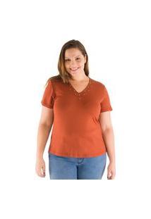 Blusa Special Com Decote Bordado Com Aplicações Loony Jeans