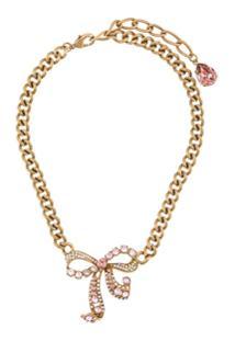 Dolce & Gabbana Colar Com Aplicação De Cristais - Dourado