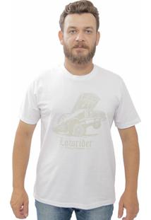 Camiseta Cheiro De Gasolina Low Rider Branca