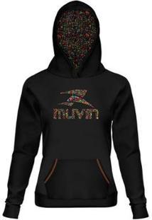 Blusa Moleton Com Capuz Sporticons - Feminino - Muvin - Bsc-04100 - Feminino