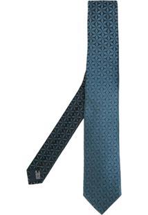Lanvin Gravata De Seda Com Padronagem - Azul