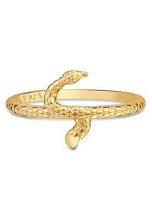 Anel Life Enigma Serpente Com Banho Ouro Amarelo