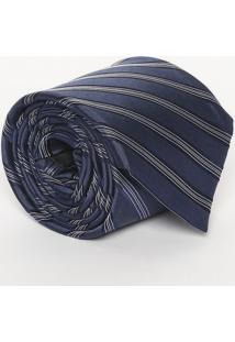 Gravata Acetinada Em Seda - Azul - 9X148Cmcalvin Klein