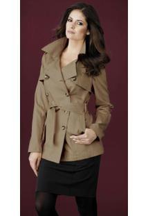 Casaco Trench Coat Marrom