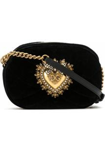 Dolce & Gabbana Bolsa Transversal Devotion - Preto