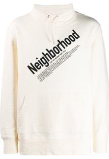 Neighborhood Moletom Com Cordão De Ajuste E Logo - Neutro