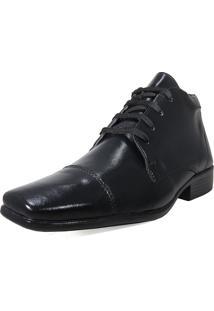 Bota Sapato Social Cadarço Preto