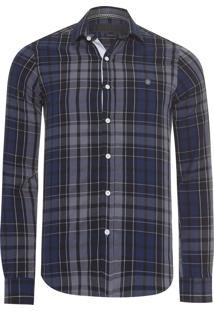 Camisa Masculina Xad Flanela Dark - Azul