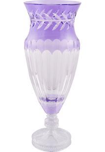 Vaso Decorativo De Cristal Lodz - Roxo Atenas