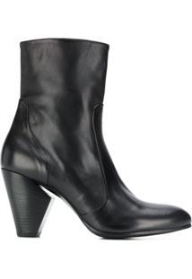 Strategia Ankle Boot Com Salto - Preto