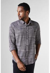 Camisa Reserva Regular Xadrez Grade - Masculino