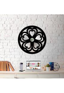 Escultura De Parede Wevans Mandala Heart + Espelho Decorativo