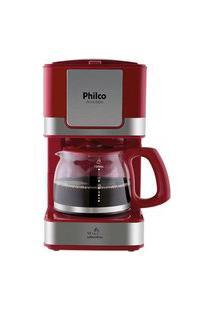 Cafeteira Elétrica Philco Ph16 Inox Vermelho 127V