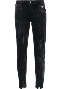 Givenchy Calça Jeans Com Fenda Na Barra - Preto