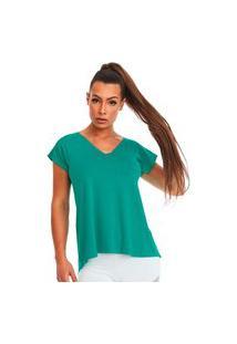 Blusa Gola V Básica Verde