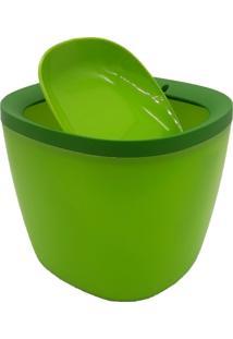 Lixeira Carisma Basculante Para Pia Lavabo Escritórios Em Plastico Verde
