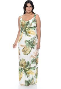 Vestido Join Curves Join Curves Plus Size Longo Bali