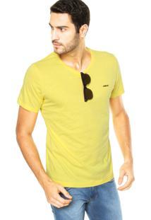 Camiseta Colcci Logo Amarela