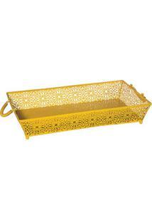 Bandeja Le Fleur- Amarela- 10X50X30Cm- Btc Decorbtc Decor