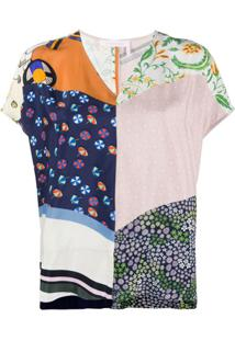 See By Chloé Blusa Summer Com Patchwork - Verde