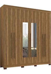 Guarda-Roupa Casal Com Espelho Polo 6 Pt 3 Gv Amêndoa
