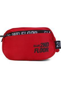 Pochete Ellus 2Nd Floor Square Belt Bag - Feminino-Vermelho Escuro