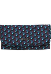 Carteira Kipling Basic Plus Lm Supermoney Azul/Roxo