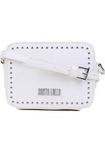 Bolsa Santa Lolla Mini Bag Risco - Feminino-Branco