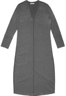 Cardigan Feminino Alongado Endless Cinza