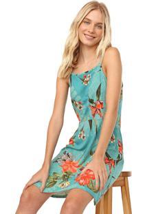 Vestido Fiveblu Curto Floral Azul