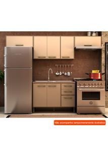 Cozinha Compacta Vitória Ii 7 Pt 3 Gv Capuccino E Avelã