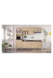 Cozinha Compacta Clean I 8 Pt 4 Gv Nogueira E Preta